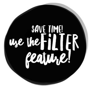 Save yourself scrolling & use filters!